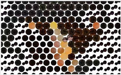 Digital Art - Eyes On Dots by Maciek Froncisz