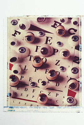Eye Chart Photograph - Eyes On Eye Chart by Garry Gay