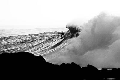 Black And White Surf Photograph - Eyes On The Prize by Sean Davey