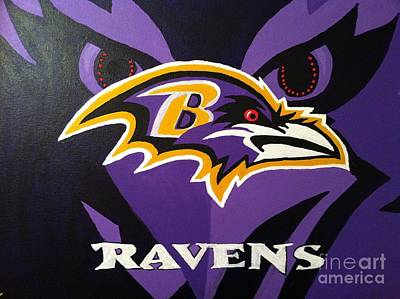 Eyes On The Ravens Art Print