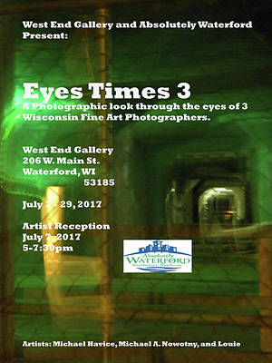 Photograph - Eyes Times 3 by Michael Nowotny