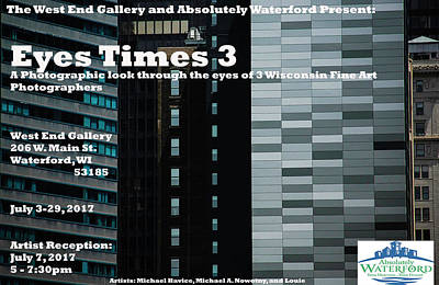 Photograph - Eyes Times 3a by Michael Nowotny