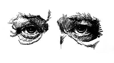 Drawing - Eyes by ZileArt