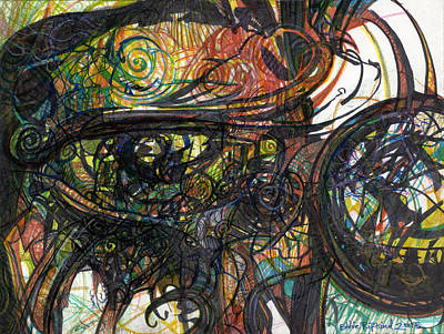 Drawing - Eyescape by Eddie Rifkind