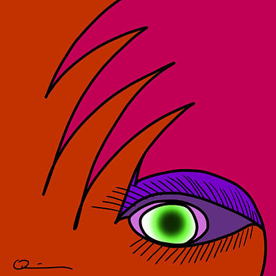 Digital Art - Eyeshadow by Jeff Quiros