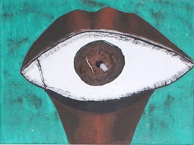 Painting - Eyesnake by Oneroses