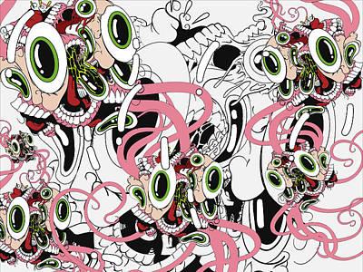 Expressionist Digital Art - Eyesore IIi by Dan Fluet