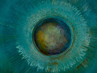 Planetoid Painting - Eyesteroid by Art by Ela