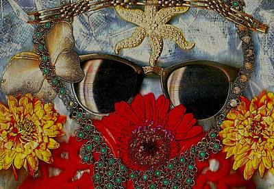 Popart Mixed Media - Eyewear And Beautu Popart by Pepita Selles