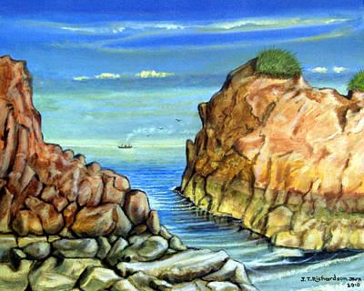 Eynmouth South East Scotland Art Print by James Richardson