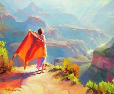 Grand Canyon National Park Painting - Eyrie by Steve Henderson