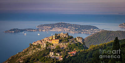 Photograph - Eze And Cote D'azur Dawn by Brian Jannsen