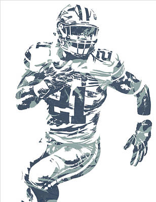 Mixed Media - Ezekiel Elliott Dallas Cowboys Pixel Art 25 by Joe Hamilton