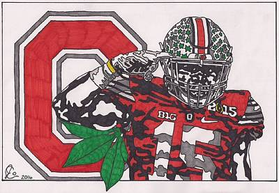 Drawing - Ezekiel Elliott by Jeremiah Colley