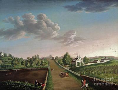 Settlers Painting - Ezekiel Hersey Derby Farm by Michele Felice Corne