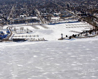 Photograph - F-002 Fond Du Lac Wisconsin Harbor Winter by Bill Lang