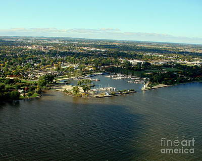 Photograph - F-006 Fond Du Lac Wisconsin Harbor To West by Bill Lang