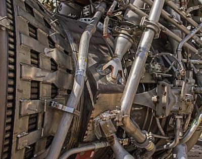Photograph - F-1 Rocket Engine by Allen Sheffield