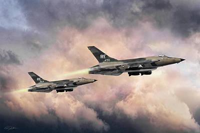Dog Fight Digital Art - F-105 Thunderchief by Peter Chilelli