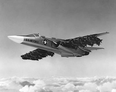 Sixties Photograph - F-111 Aardvark Bomber by Underwood Archives