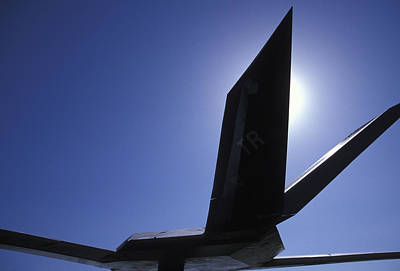 Photograph - F-117 Stealth Silhouette by John Clark