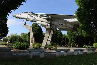 Photograph - F-14 Grumman Memorial Park Calverton New York by Bob Savage
