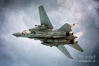 Diamondback Digital Art - F-14 Tomcat - A Portrait by J Biggadike