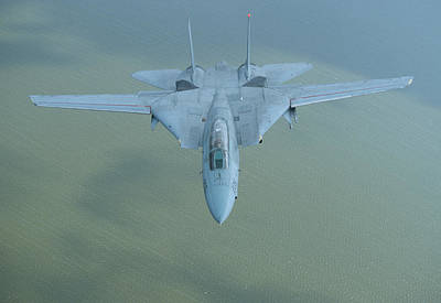Photograph - F-14 Tomcat Over The Atlantic by John Clark