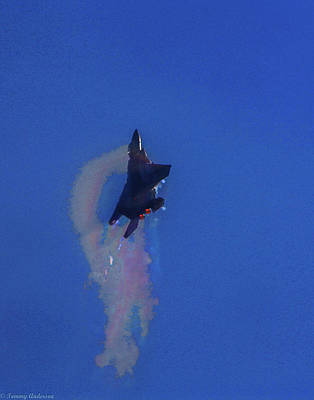 Vintage Signs - F-15 Strike Eagle going vertical by Tommy Anderson