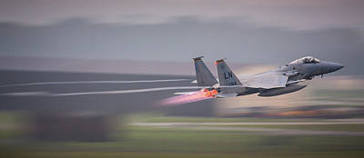 F15 Wall Art - Photograph - F-15c Launch by Neil Atterbury