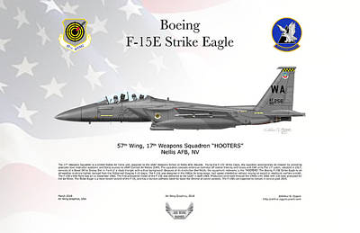 Digital Art - F-15e Strike Eagle by Arthur Eggers