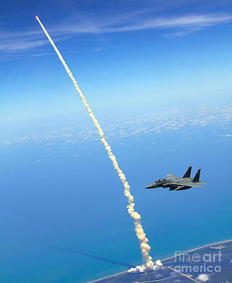 Eagle Painting - F-15e Strike Eagle by Celestial Images