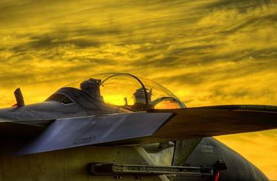 Jet Photograph - F-15e Sunset by JC Findley