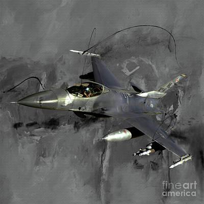 Lockheed Aircraft Painting - F 16 Air Craft  by Gull G