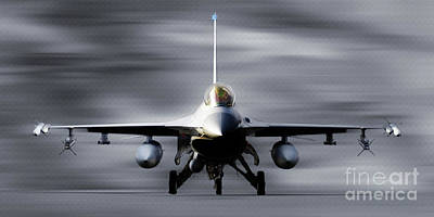 Lockheed Aircraft Painting - F 16 Fighting Falcon 011 by Gull G