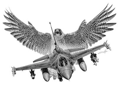 Viper Digital Art - F-16 Fighting Falcon by Dale Jackson