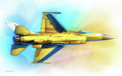 Digital Art - F-16 Flyover by Douglas Castleman