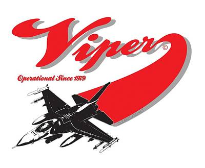 Viper Mixed Media - F-16 Swoop by Clear II land Net