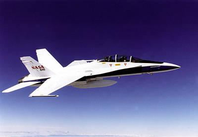 Enterprise Photograph - F-18 Chase Aircraft by Artistic Panda