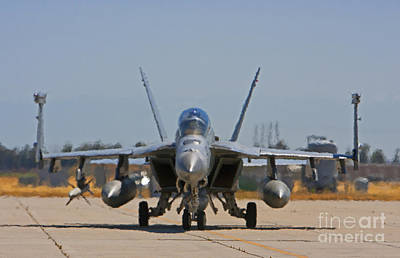 F 18  Jet On The Tarmac Original