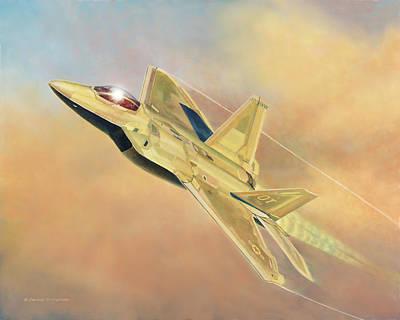 Painting - F-22a Raptor by Douglas Castleman