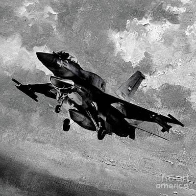 Lockheed Aircraft Painting - F 26 Aircraft Art 01 by Gull G