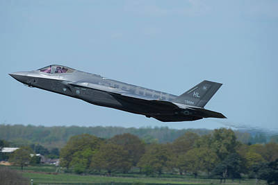 Photograph - F 35 Lighting II Launches For A Sortieat Raf Lakenheath by Paul Fearn