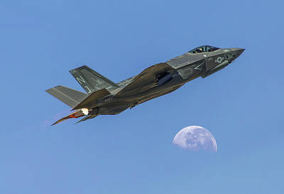 Photograph - F-35 Shoots The Moon by James Menzies