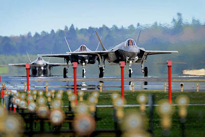 Photograph - F 35a Lighting II Arrival At Raf Lakenheath by Paul Fearn