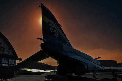 Mcdonnell Douglas F-4 Phantom Ii Photograph - F-4 Phantom At Sunset by Tommy Anderson