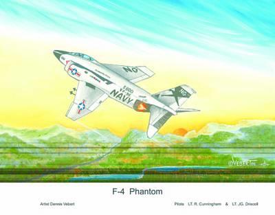 F-4 Phantom Art Print by Dennis Vebert