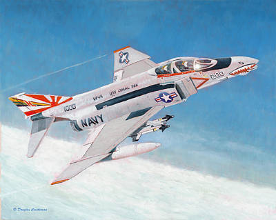 Painting - F-4b Phantom II Of Vf-111 by Douglas Castleman