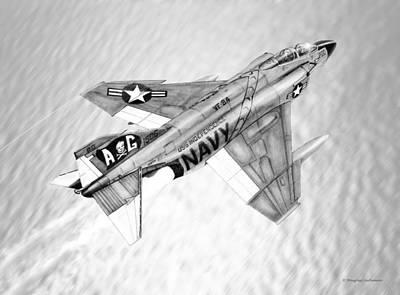 Drawing - F-4b Phantom II by Douglas Castleman