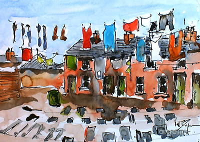 Painting - F 815 Monday  Morning  by Val Byrne